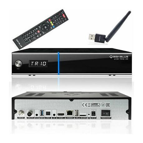 Gigablue UHD TRIO 4K WIFI DVB-S2X DVb-T2