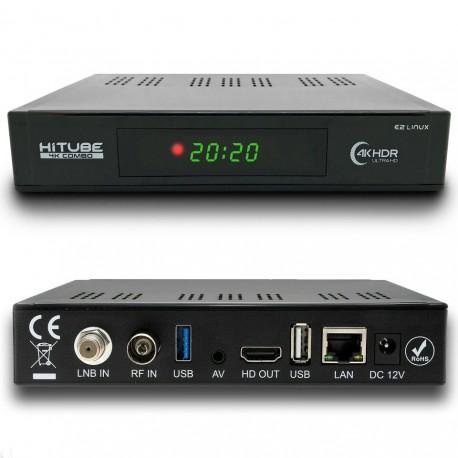 HITUBE 4K COMBO DVB-S2X DVB-T2 LINUX ENIGMA2 WI-FI MULTISTREAM