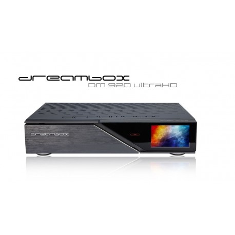 Dreambox DM920 UHD 4K 1x DVB-S2X FBC (8 tuner) Multistream / 1xDVB-C/T2 Dual Tuner h265 10 bit